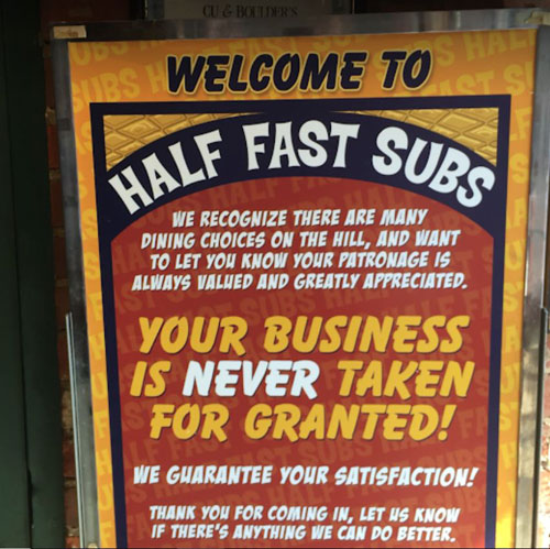 Welcome to Half Fast Subs